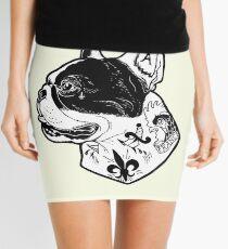 Tattooed French Bulldog Mini Skirt