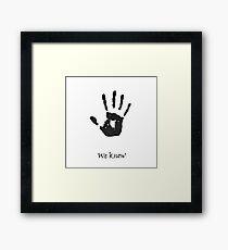 Dark Brotherhood Knows.. You've been Bad! Framed Print