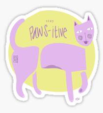 Paw-sitive Sticker
