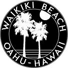WAIKIKI BEACH HAWAII OAHU SURF SUN SAND SURFING BEACH VACATION  by MyHandmadeSigns