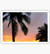 The Best Sunset - Pink Palm Trees Sticker