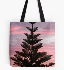 Pink Sky Pine Tote Bag