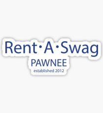 Parks and Rec - Rent A Swag logo Sticker