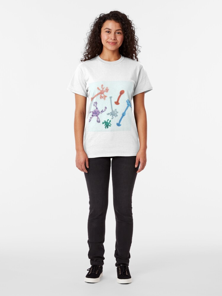 Alternate view of Crocheted Neuron  Classic T-Shirt