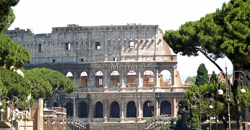 Approaching the Colosseum by Memaa