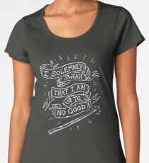 I Solemly Swear That I am Up to No Good! Premium Scoop T-Shirt