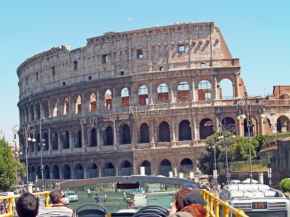 The Colosseum from Bus Top by Memaa