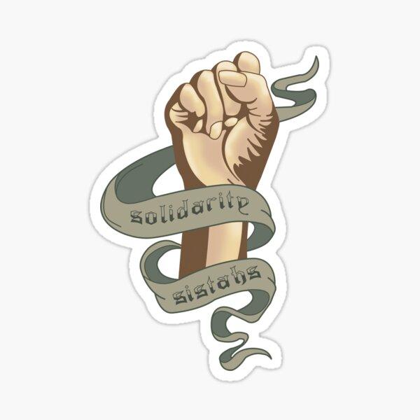 Solidarity Sistahs Sticker