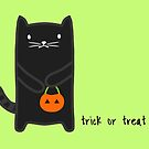 Trick or Treat Cat by whatsandramakes