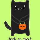 Trick or Treat Halloween Cat by whatsandramakes