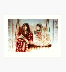 Swinging Sisters - Joint Colloboration 4  Art Print