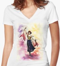 Yuna Final Fantasy X Women's Fitted V-Neck T-Shirt