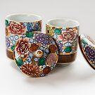 Japanese Lidded Tea Cups by Skye Hohmann