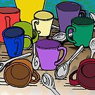 Cups and Spoons by melasdesign