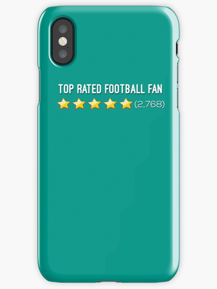 low cost eafff 7adab 'Top Rated Football Fan: 5 Star Reviews' iPhone Case by MJPlamann