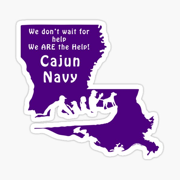 Louisiana Cajun Navy   Sticker