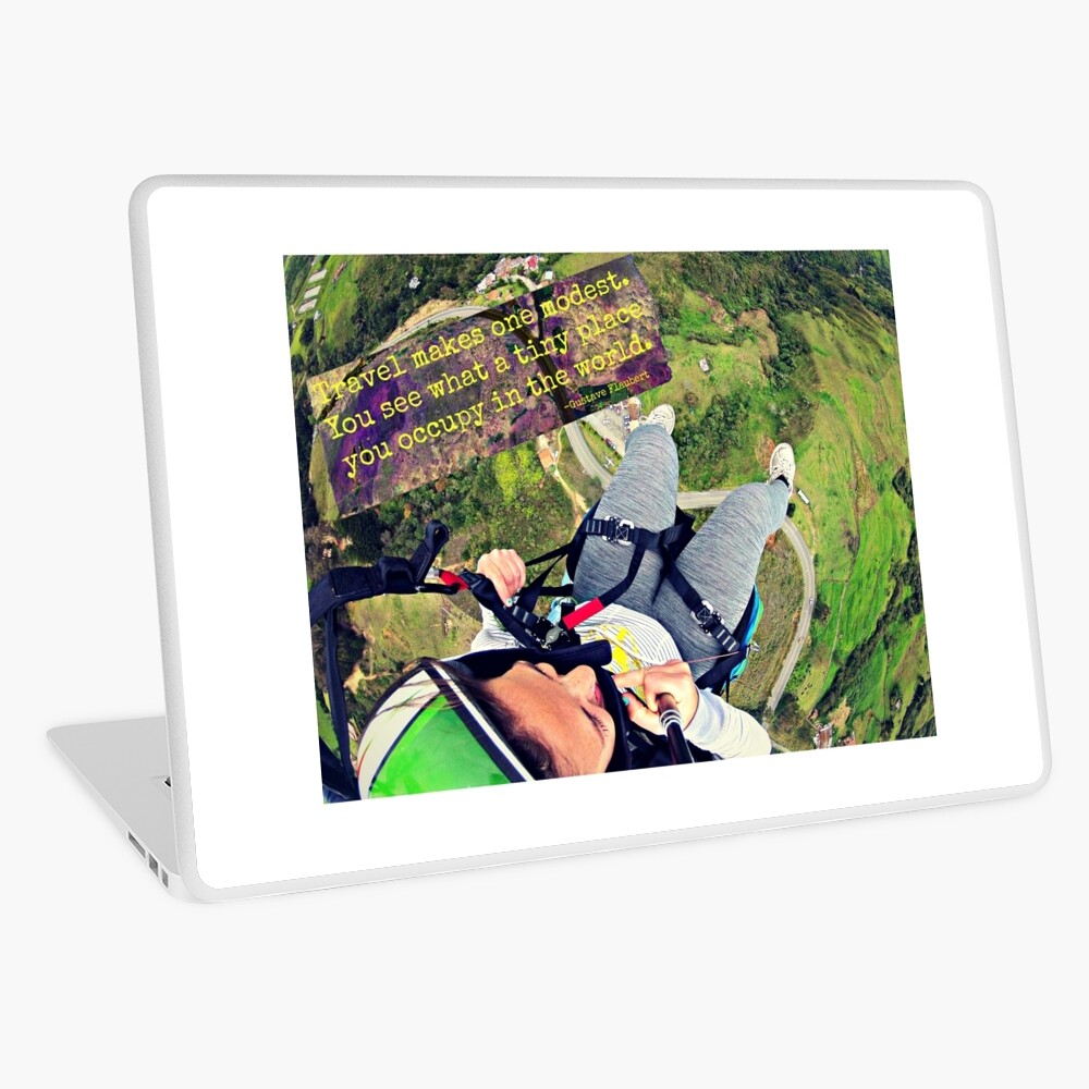 Travel Makes One Modest Travel Quote Collection Laptop Skin
