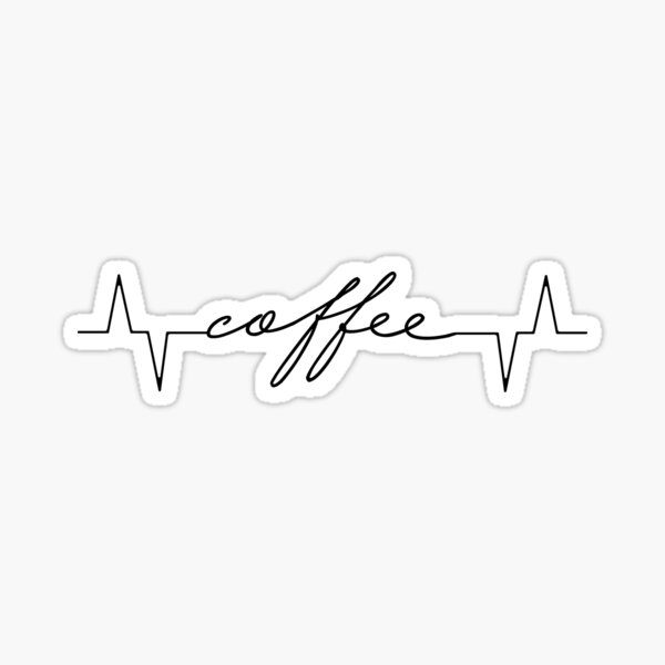 Kaffee Lebensader Sticker