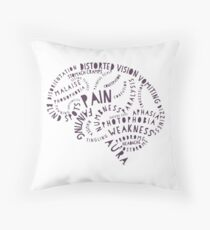 The Pain of Migraine Throw Pillow
