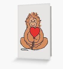 Lovable Orangutan Greeting Card