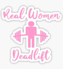Weightlifting Women Deadlift Sticker