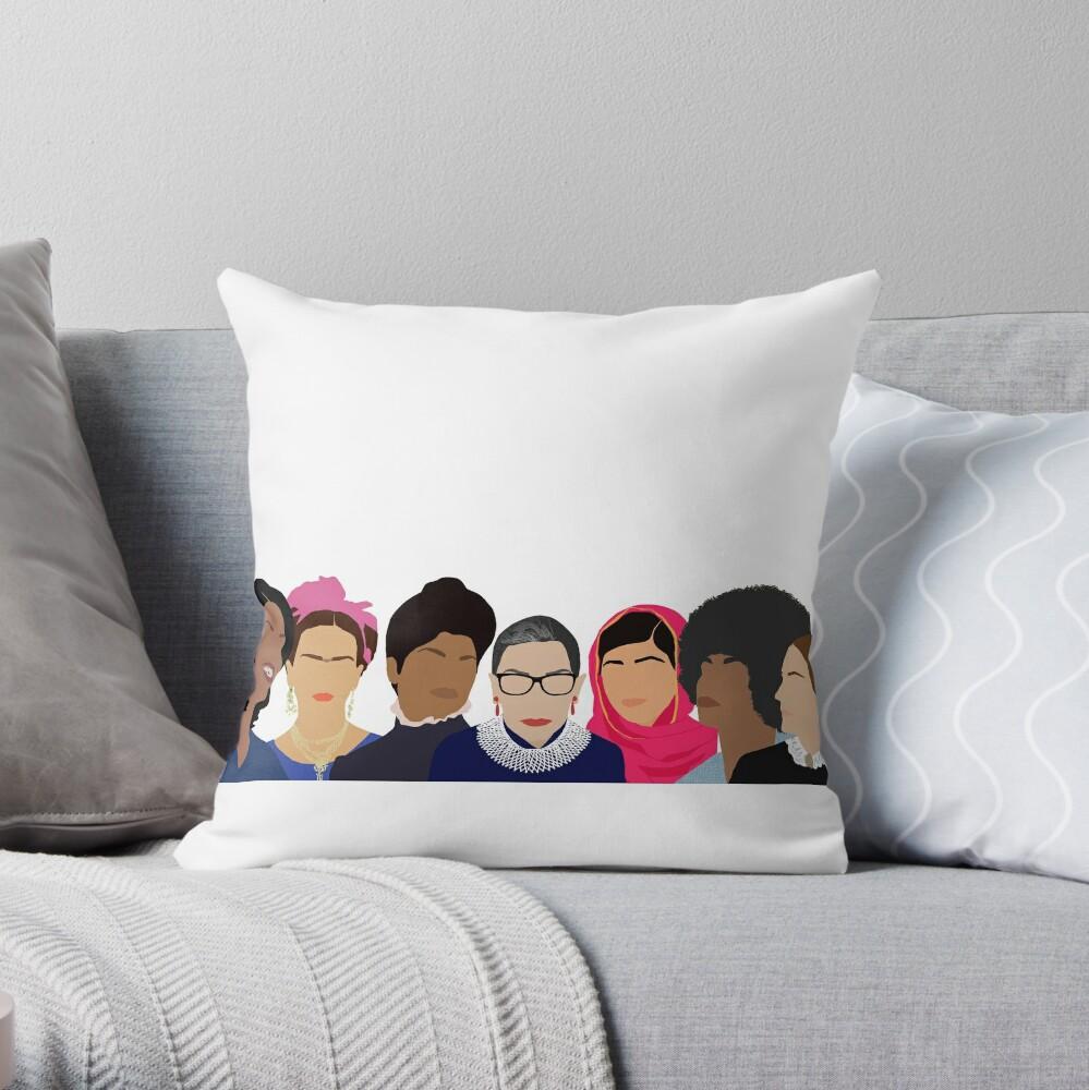 Feminist Girl Gang- Squad Goals Throw Pillow