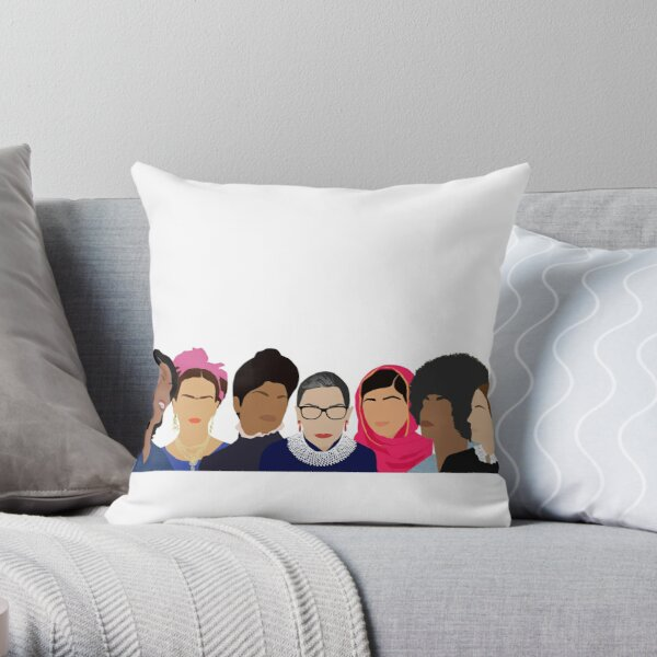 Feminist Girl Gang- Squad Goals Throw Pillow