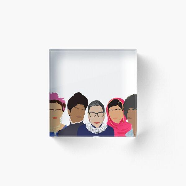 Feminist Girl Gang- Squad Goals Acrylic Block