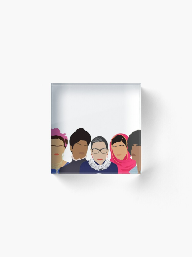 Alternate view of Feminist Girl Gang- Squad Goals Acrylic Block
