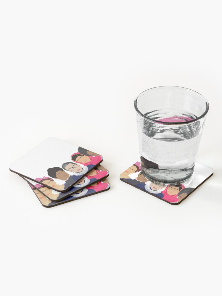 Alternate view of Feminist Girl Gang- Squad Goals Coasters (Set of 4)