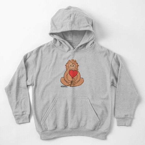 I Love Heart Orangutans Kids Sweatshirt