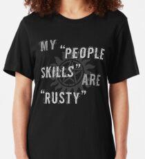 Camiseta ajustada Supernatural Castiel 'People Skills' camiseta