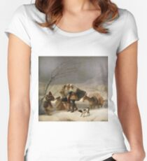 The Snowstorm (Winter) Francisco 1786 - 1787  Goya Women's Fitted Scoop T-Shirt