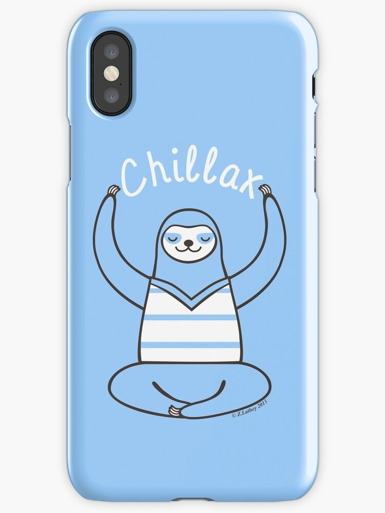 Minimalist Chillax Sloth  by Zoe Lathey