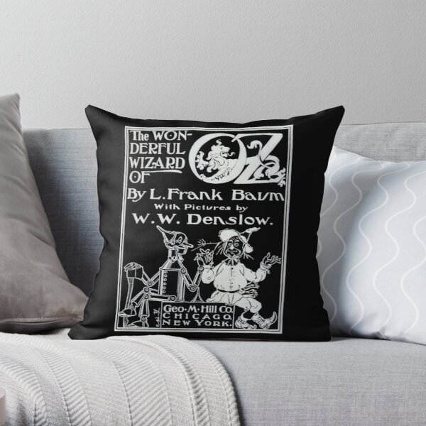Wizard of Oz Cover - White Throw Pillow