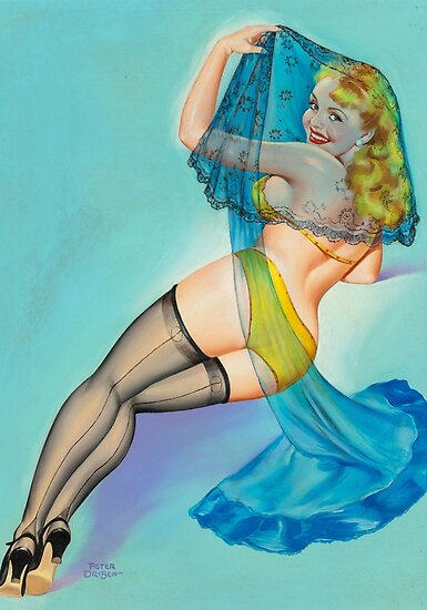 Vintage Pin Up Girl Art Piece Annees 50 Posters Par Critterville