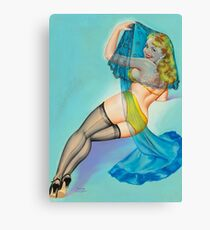 Vintage Pin Up Girl Art Piece From 50s Canvas Print