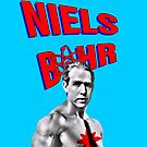 Niels Bohr Superhero by Expalphalog