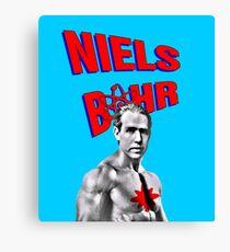 Niels Bohr Superhero Canvas Print
