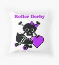 Roller Derby Heart (Purple) Throw Pillow