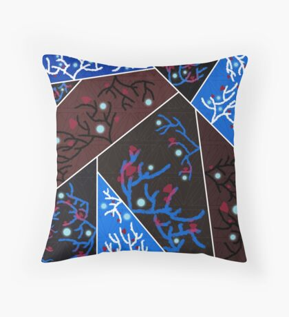 Horns and Red Diamonds Throw Pillow
