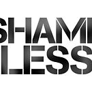 SHAME LESS (black, stickers and cards) by SMUTproject