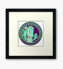 The Haunted Mansion (purple and green) Framed Print