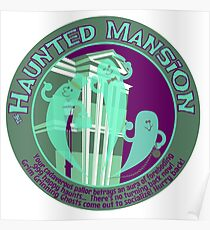 The Haunted Mansion (purple and green) Poster