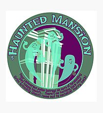 The Haunted Mansion (purple and green) Photographic Print