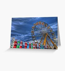 Wheel and Beverages Greeting Card