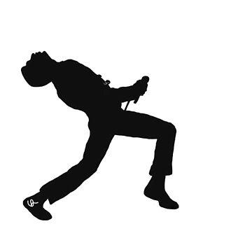 Freddie Mercury Silhouette  by UnLeashedArt