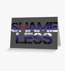SHAME LESS (kink pride, stickers and cards) Greeting Card