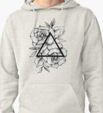 Geometric Roses Pullover Hoodie