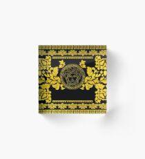 Gold Medusa Acrylic Block